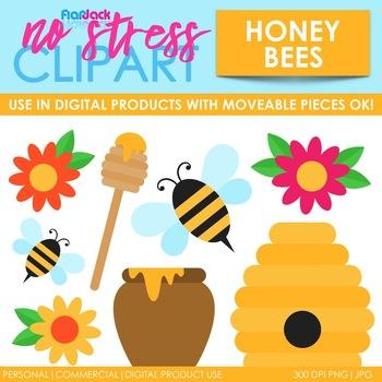 Honey Bees Clip Art (Digital Use Ok!)