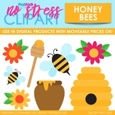 Honey Bees Clip Art (Digital Use Ok!)