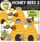 Honey Bees Clipart 2 {Digital Clips 4 Teaching}