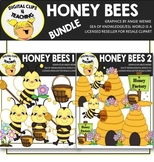 Honey Bees Clipart BUNDLE