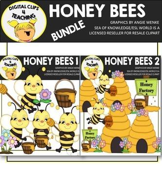 Honey Bees Clipart BUNDLE