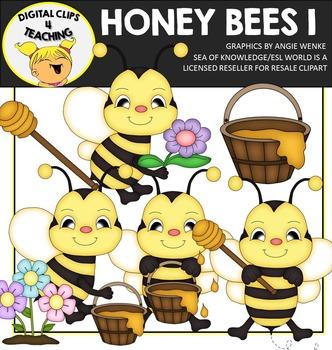 Honey Bees Clipart {Digital Clips 4 Teaching}