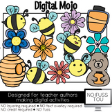 Honey Bees Flowers Clipart NO FUSS TOU Moveable Clipart fo