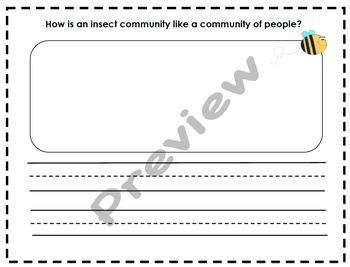 Honey Bees Graphic Organizers & Writing Activities (Reading Street 2.6)