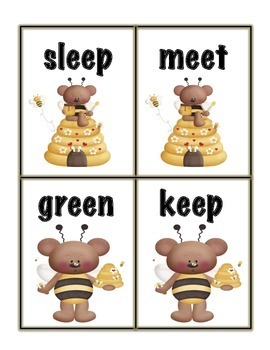 Honey Bees Long e Word Sort