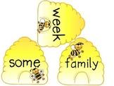 Honey Bees U2W6, Write the room Spelling words
