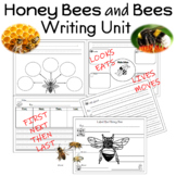 Honey Bees and Bees Writing Unit for Prek to 2nd Grade