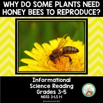 Honey Bees and Plants Science Reading