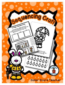 Honey Bunny Dresses for the Rain - Minimal  - Sequencing Reader Mat & Craft Page