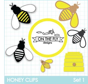 Honey Clips Set 1 Clip Art