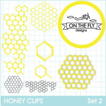 Honey Clips Set 2 Clip Art