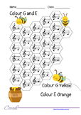 Honey Colour Letter Names