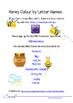 Honey Colour Letter Names