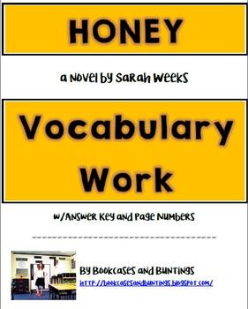 Honey Vocabulary Study | a novel by Sarah Weeks