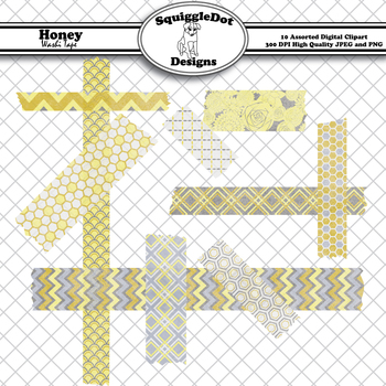 Honey Washi Tape Clip Art