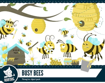 Honey bee clipart pack—over 25 images!