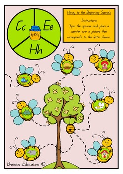 Honey to the Beginning Sounds - Initial Sound Game Cards