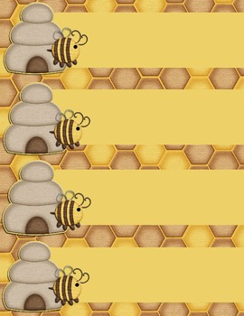 Honeybee Bear Labels