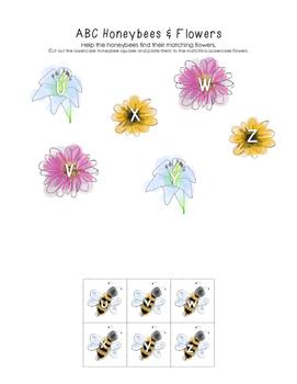 Honeybee & Flower ABC Match (Letters U-Z)