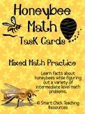Honeybee Math Task Cards! (set of 20)  Mixed Math Practice