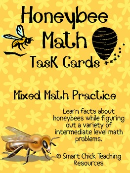 Honeybee Math Task Cards! (set of 20)  Mixed Math Practice