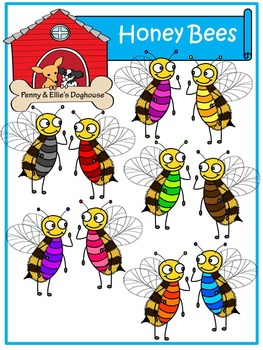 Honeybees *Penny & Ellie's Doghouse Clipart*