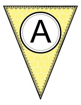 Honeycomb Alphabet Pennants
