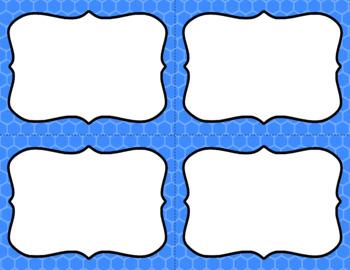Blank Task Cards - Basics: Honeycomb | Editable PowerPoint