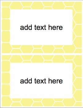 Honeycomb Classroom Labels