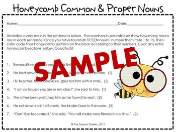 Honeycomb Common & Proper Nouns: A Color-Coding Activity