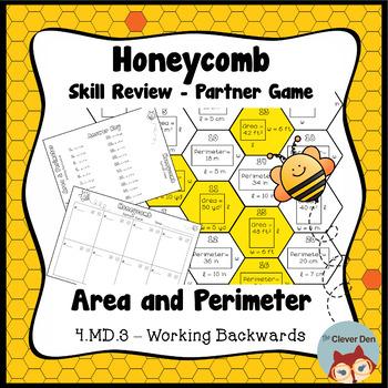 Honeycomb Partner Game - Area & Perimeter Working Backward