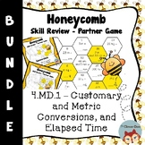 Honeycomb Partner Game- BUNDLE Customary Metric Conversion