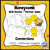 Honeycomb Partner Game- Customary Capacity Conversions - 4.MD.1 - Test Prep