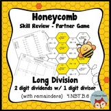 Honeycomb Partner Game- Long Division 2 by 1 Review - 4.NBT.B.6 - Test Prep