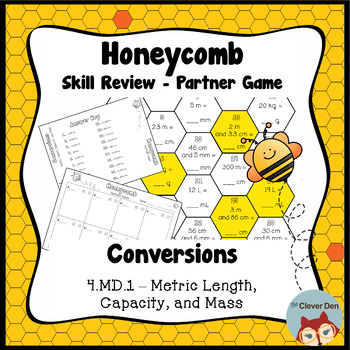 Honeycomb Partner Game- Metric Conversions - 4.MD.1 - Test Prep