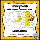 Honeycomb Partner Game- Subtraction Across Zeros Review - 4.NBT.4 - Test Prep