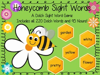 Honeycomb Sight Words - All the Dolch Sight Words in one Board Game