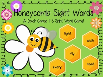 Honeycomb Sight Words - Dolch Grade 1-3 Sight Word Board Game
