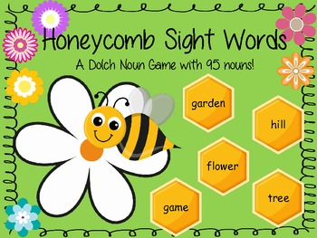 Honeycomb Sight Words - Dolch Nouns Board Game