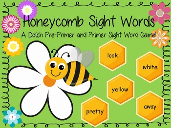 Honeycomb Sight Words - Dolch Pre-Primer and Primer Board Game