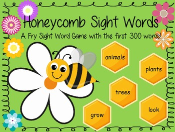 Honeycomb Sight Words - Dr. Fry First 300 Sight Words Board Game