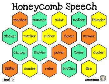 Honeycomb Speech Articulation Sheets