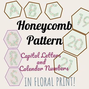 Honeycomb-Style Capital Letters & Calendar Numbers