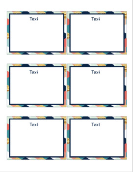 Honeycomb Task Card Template