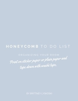Honeycomb To Do List Printable