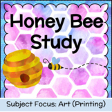 Honeycomb and Honey Bee Printing