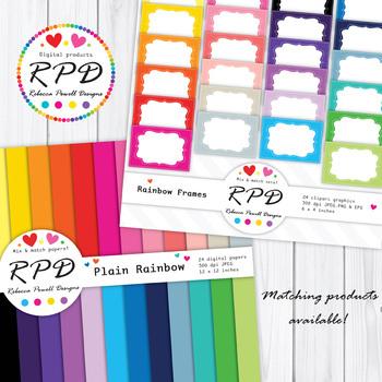 Honeycomb hexagons rainbow colours & white digital paper set/ backgrounds