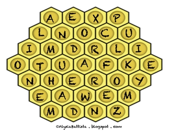 Honeycomb making words game