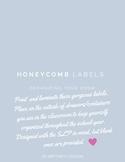 Honeycomb printable classroom labels