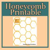 Honeycomb printable for Rosh Hashanah